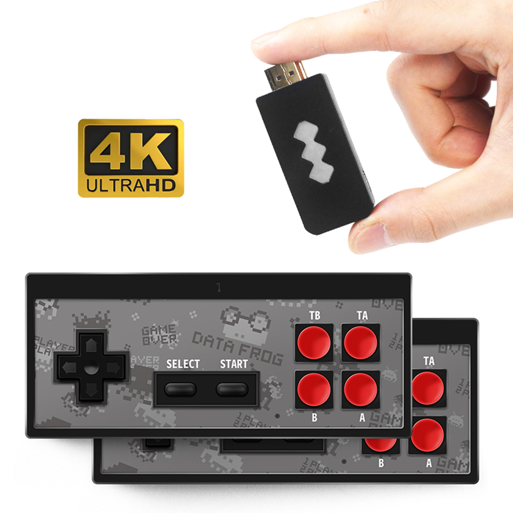 Dual 2 4G USB Wireless Handheld TV Video Game Console Build In 600 Classic Game 8 Bit Mini Video Console Support AV HDMI Output
