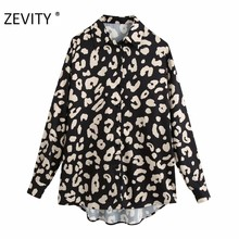 ZEVITY frauen vintage tier muster druck casual kittel bluse büro damen langarm business hemden chic chemise tops LS7092