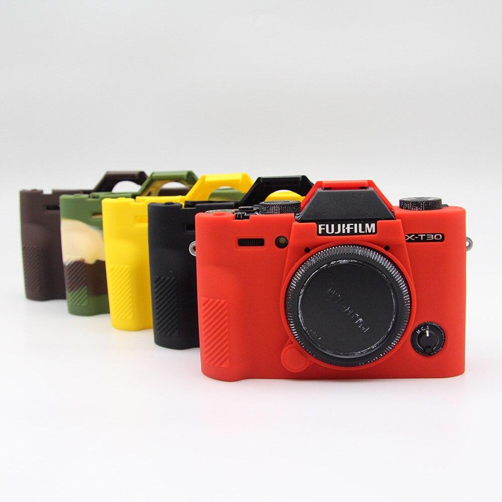 La mitad de cuero caso bolsa de agarre para Fujifilm Fuji X-T2 XT2 Cámara Batería Acceso