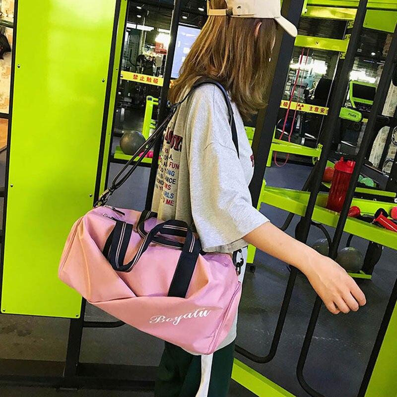 Women Gym Bag Sports Fitness Handbag Training Bags For Shoes Travel Dry And Wet Yoga Mat Sac De Sport Mochila Sporttas 6