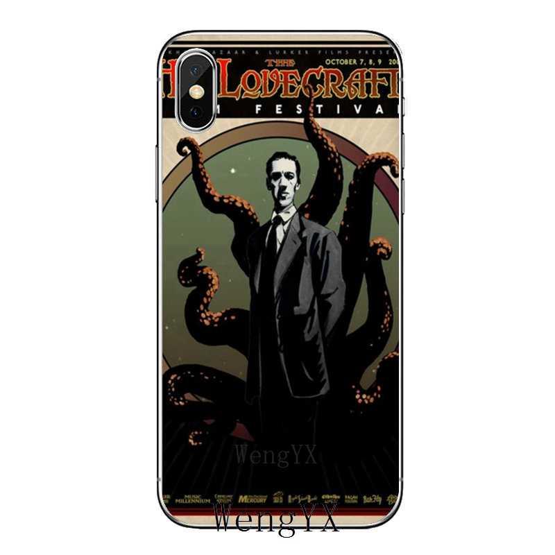 Lovecraft Film festiwal miękkiego silikonu etui na telefony dla iPhone 8 7 6 6S Plus 11 Pro XS Max XR X 5 5S SE 4S 4 iPod Touch 5 6