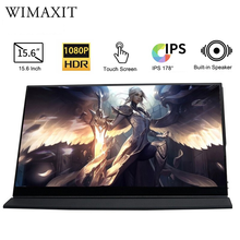 WIMAXIT M1560CTV2 USB Type C HDMI Portable Monitor FHD Laptop Gaming Working Extension Display Huawei laptops