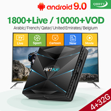 French Arabic IPTV France Italy QHDTV Box HK1 PLAY Android 9.0 BT Dual-Band WIFI USB3.0 Belgium
