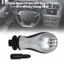 Автомобильные аксессуары, фрикционная рукоятка переключения передач на 5 скоростей, ручная Головка рычага переключения передач для Citroen C5 ...