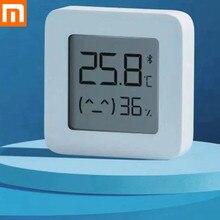 Цифровой Bluetooth термометр XIAOMI Mijia, беспроводной смарт термометр 2 с гигрометром и датчиком влажности, работает с приложением Mijia