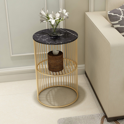 High Quality Nordic Small Marble Coffee Table Side Table Corner Living Room Round Tea Table Simple Modern Bedside Table