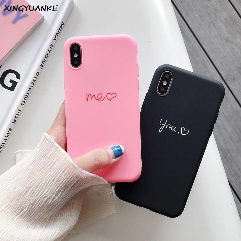 Voor Huawei P8 P9 P10 P20 Lite Plus P30 Pro 2017 P Smart 2019 Z Leuke Brief Silicone Case Voor huawei Mate 10 20 30 Lite Pro Cover