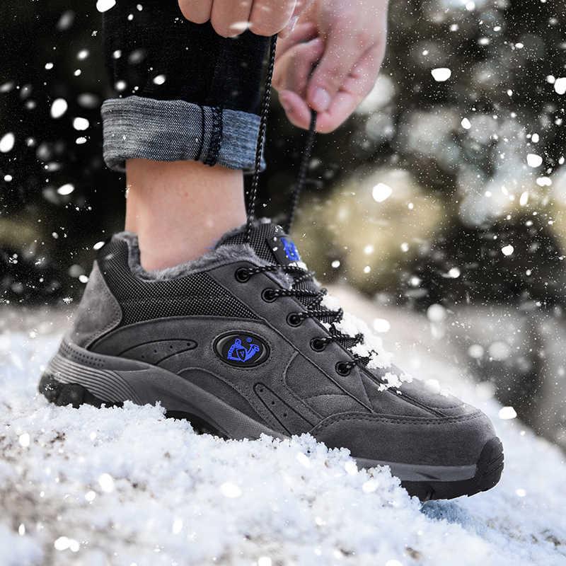 Kış ayakkabı erkekler büyük boy 47 48 49 süper sıcak erkek botları açık ayakkabı ayak bileği sıcak peluş kar botları adam için ayakkabı