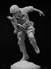 1/16 Israeliani Paracadutista Del Basamento (con Base) Della Resina di Figura Kit Modello in Miniatura Gk Unassembly Non Verniciata