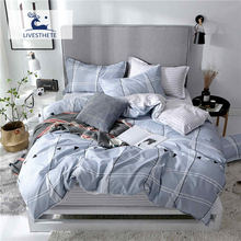 Liv-Esthete Modern Classic Striped Bedding Set High Quality Printed Duvet Cover Pillowcase Bed Linen Flat Sheet Or Fitted