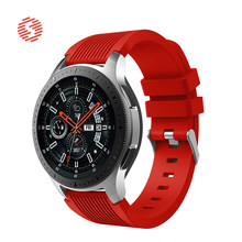 ShengOne Fluoroelastomer Band for Samsung Galaxy Watch 46MM Soft Silicone Strap for Gear S4 22MM Band Width