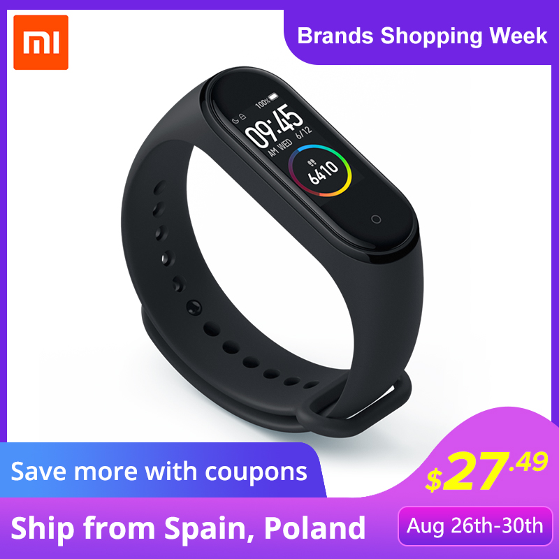 Xiaomi Mi-Band 4 Screen Smart-Bracelet Bluetooth Waterproof AMOLED 50m 120X240 Full-Color