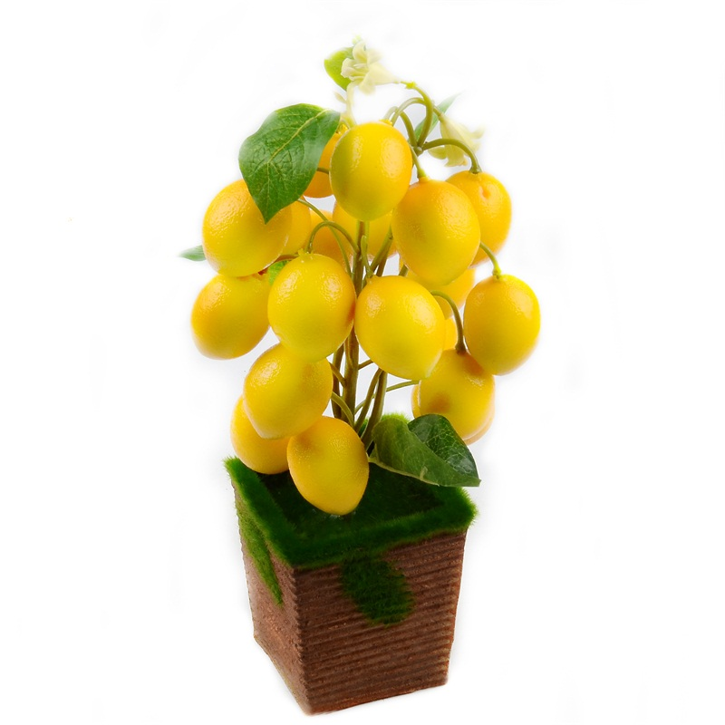 Artificial  Lemon Potted Tree Bonsai Accessories Vegetable  Plants Kitchen Toys For Wedding Home Party Decoration Fake Fruit