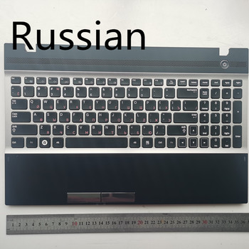Russian /US /spain  layout New laptop keyboard with touchpad palmrest for samsung NP300V5A NP305V5A 300V5A  15.6""
