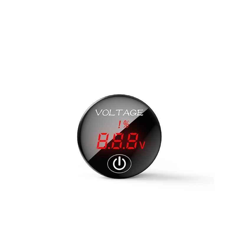 Voltmètre d'affichage de capacité de batterie de compteur de tension numérique de panneau de LED de cc 5 V-48 V de voiture avec l'interrupteur tactile ON OFF G6KC