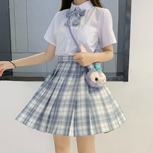 Japanese School Uniforms Girl's Dresses JK Suits Bowknot Shirt  Plaid Skirts Female Sailor Costumes Dress Clothes for Women