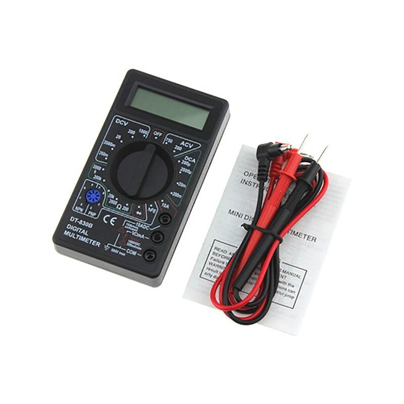DT830B Digital Multimeter AC/DC 750/1000V LCD Handheld Voltmeter Ammeter Ohm Tester Auto Ranging Current Resistance Meter Tester