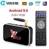 X2 CUBE 2GB DDR4 16GB Smart Android 9.0 TV Box Amlogic S905X2 2.4G/5GHz WiFi 1000M Bluetooth 4K HD X2 Pro 4GB 32GB décodeur