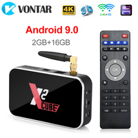 X2 CUBE 2GB DDR4 16GBSmart Android 9.0 TV Box Amlogic S905X2 2.4G/5GHz WiFi 1000M Bluetooth 4K HD X2 Pro 4GB 32GB Set Top Box