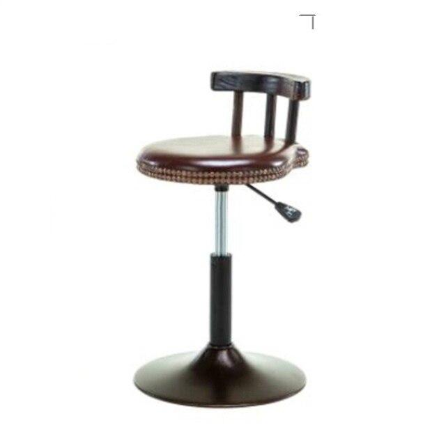 American Style Iron Leisure Bar Stool Retro Bar Chair Lift Reception Desk High Stool Cafe Bar Chair