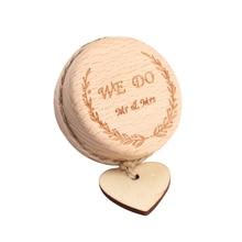 1 unidad de caja de anillo de madera Vintage caja de joyería de boda caja de anillo portador de anillo para propuesta de compromiso de boda