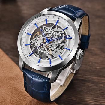 PAGANI mechaniczny zegarek luksusowy męski biznesowy zegarek mechaniczny skórzany pusty zegar wodoodporny męski automatyczny zegarek mechaniczny tanie i dobre opinie PAGANI DESIGN 3Bar Bransoletka zapięcie Moda casual Mechaniczna Ręka Wiatr 26cm STAINLESS STEEL Odporny na wstrząsy