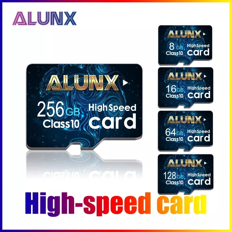 ALUNX Class 10 Micro SD карта, 16 ГБ, 32 ГБ, 64 ГБ, карта памяти MicroSDHC 8 Гб 256 UHS-I TF карты A1 MicroSD 128 ГБ MicroSDXC