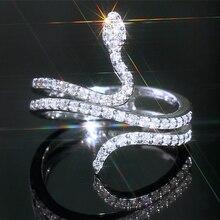 Loredana High-end Fashion Creative Glitzy White Romantic Zircon Cartoon Serpentine Woman Ring Gift For Lovers loredana del monte куртка