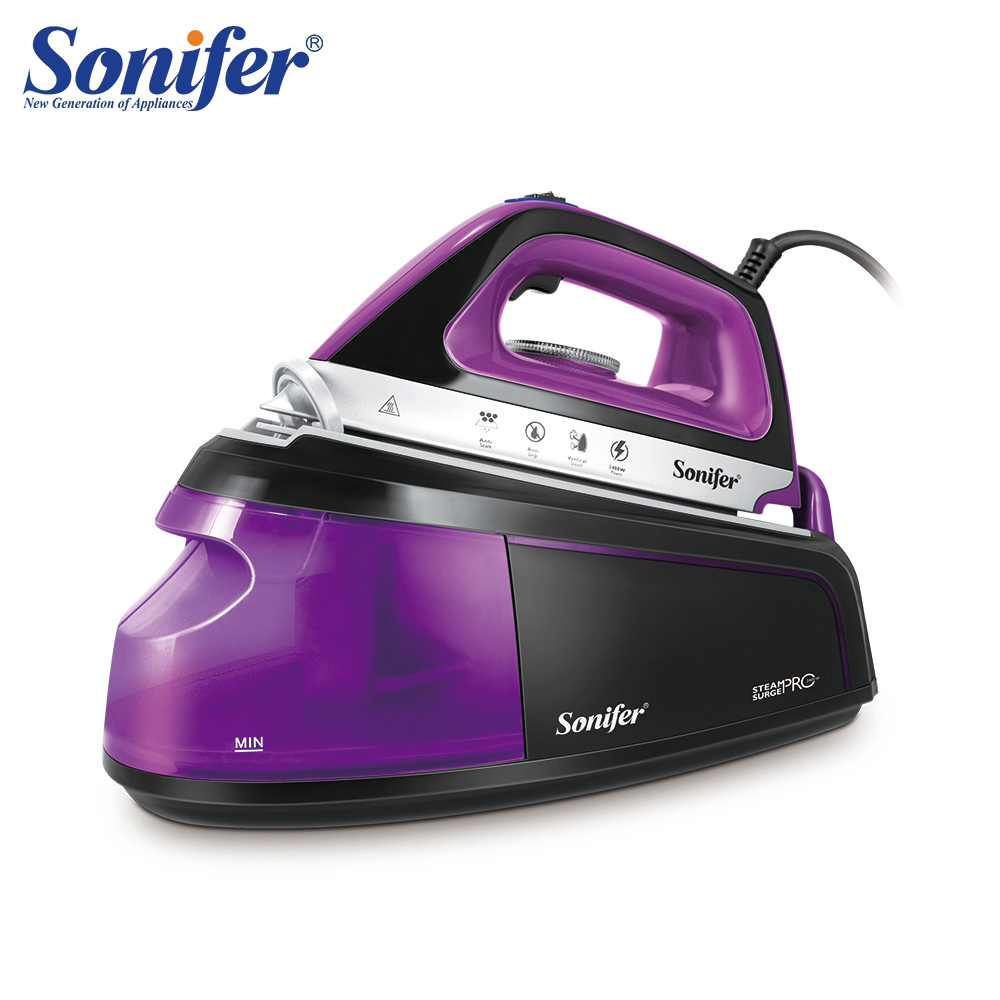 Cordless Steam Iron For Clothes Steam Generator Travel Wireless Iron Ironing Ceramic Soleplate External Water Tank Sonifer