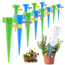 6 12 18 30PCS Self-contained Auto Drip Irrigation Watering System Automatic Watering Spike for Plants Flower Indoor Household cheap CN(Origin) Plastic Watering Kits PE bag 6 12 18 30 pcs Multicolor Green Blue dropshipping dropshiper