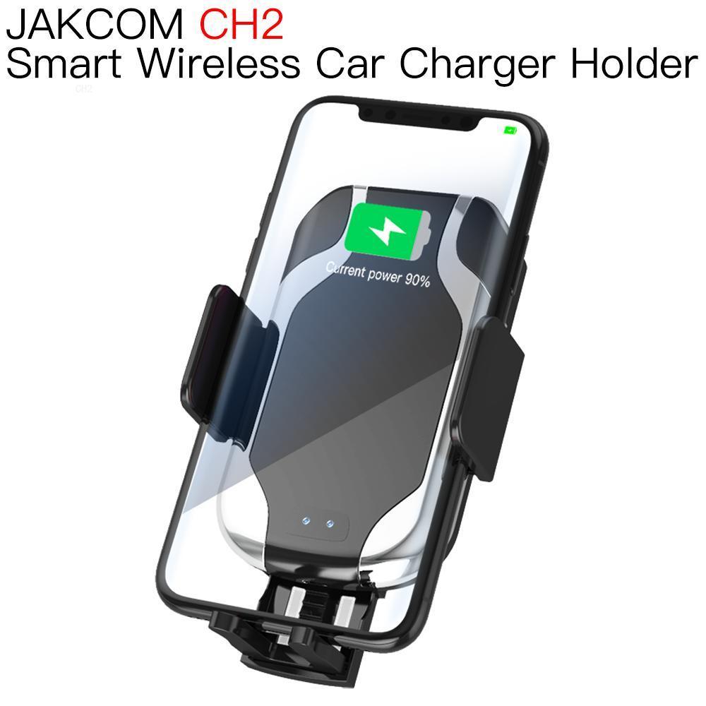 JAKCOM CH2 Smart Wireless Car Charger Mount Holder Gifts for men women buds plus solar power bank cargador watch 7a pro mix(China)