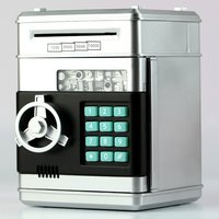 Caixas de dinheiro de poupança de dinheiro eletrônico do banco do piggy caixas de dinheiro para crianças moedas digitais Cofres     -
