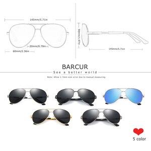 Image 3 - BARCUR Aluminium Magnesium Polarisierte Sonnenbrille Männer Fahren Spiegel Sonnenbrille Männlichen Oculos