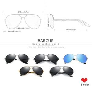 Image 3 - BARCUR alüminyum magnezyum polarize güneş gözlüğü erkek sürüş ayna güneş gözlüğü erkek Oculos