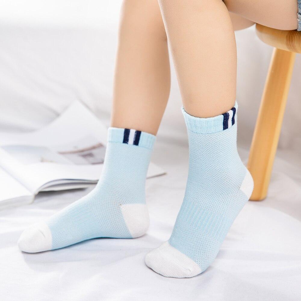 5Pairs/lot 2-9Y Baby Socks Summer Cotton Color Patchwork Kids Socks Colorful Girls Mesh Cute Newborn Boys Toddler Socks Baby 3