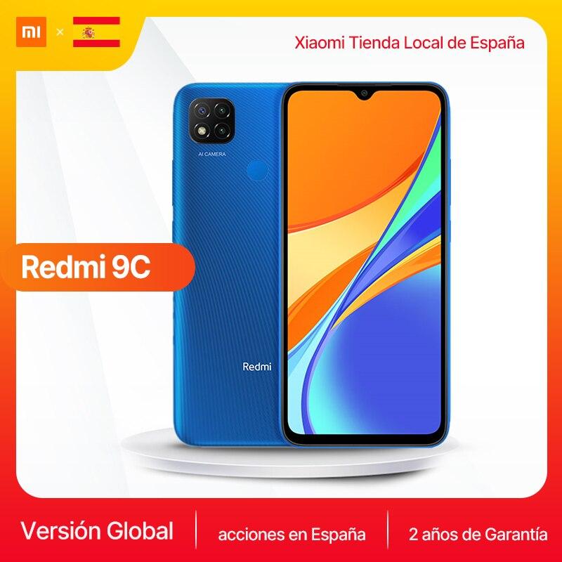 "Versión Global Xiaomi Redmi 9C Smartphone 6,53 ""pantalla HD Helio G35 Octa Core 5000mAh batería 13MP AI triple cámara móvil teléfono"