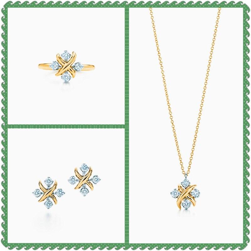 SHINETUNG Original 100% S925 Lynn Zircon incrusté or à la mode anneaux femmes Simple haut de gamme bijoux livraison gratuite