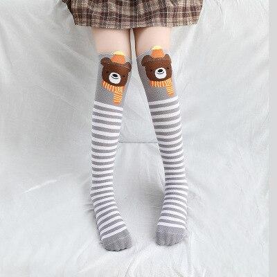 Носки для маленьких девочек; Хлопковые гольфы с изображением лисы; милые Гольфы с рисунком; детская одежда; носки для обуви для малышей; Носки с рисунком - Цвет: 4