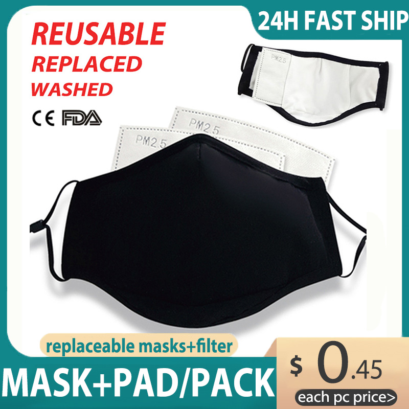 KN95 Face Mask Respirator Anti-fog Dust-proof Washable Reusable Mouth Mask Breathable Filter Replaceable Mask N95 Mouth-muffle