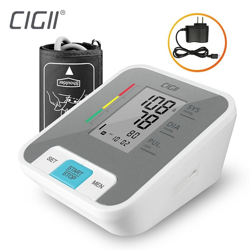 Cigii Thuis gezondheidszorg Pulse meting tool Draagbare LCD digitale Bovenarm Bloeddrukmeter 1 Pcs Tonometer