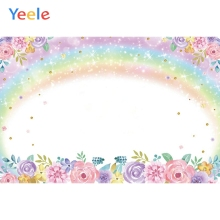 yeele dreamy castle style backdrops for photography pink flowers fairy tale backgrounds birthday party photo vinyl studio props Rainbow Spring Rose Flowers Newborn Birthday Photography Backgrounds Vinyl Photographic Backdrops Props For Photo Studio