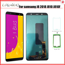 OLED J8 2018 J810 Samsung Galaxy J8 2018 J810 J810F J810Y J810G LCD ekran dokunmatik ekran Digitizer meclisi