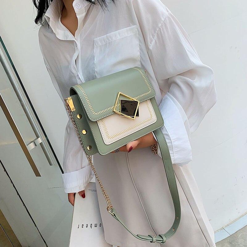 Chain Pu Leather Crossbody Bags For Women 2020 Small Shoulder Messenger Bag Fashion Special Lock Design Female Travel Handbags