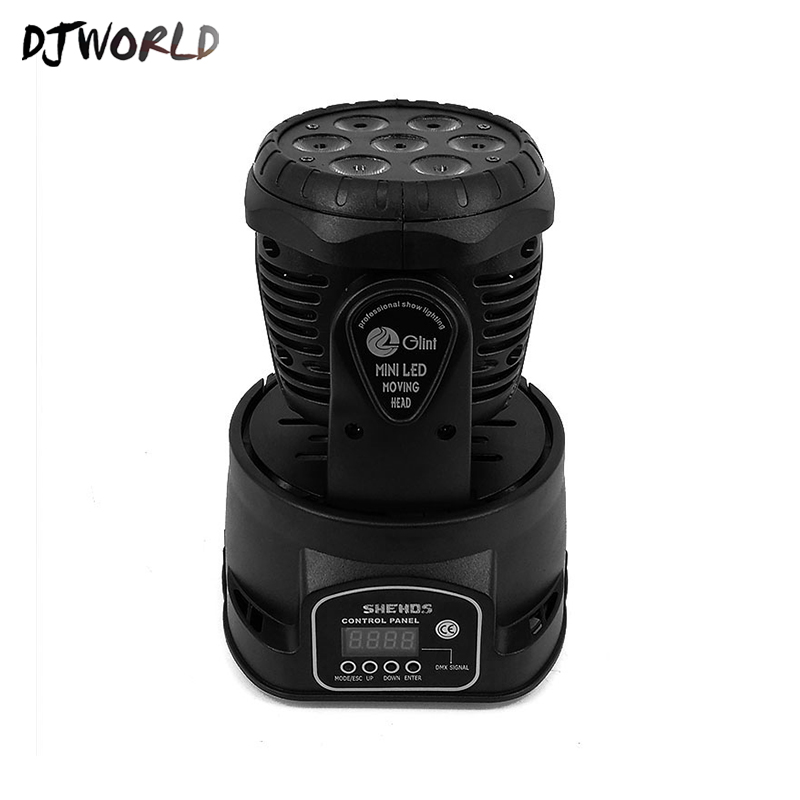 Image 3 - Djworld LED 7X18W Wash Light RGBWA+UV 6in1 Moving Head Stage Light DMX Stage Light DJ Nightclub Party Concert Stage Professional-in Stage Lighting Effect from Lights & Lighting on
