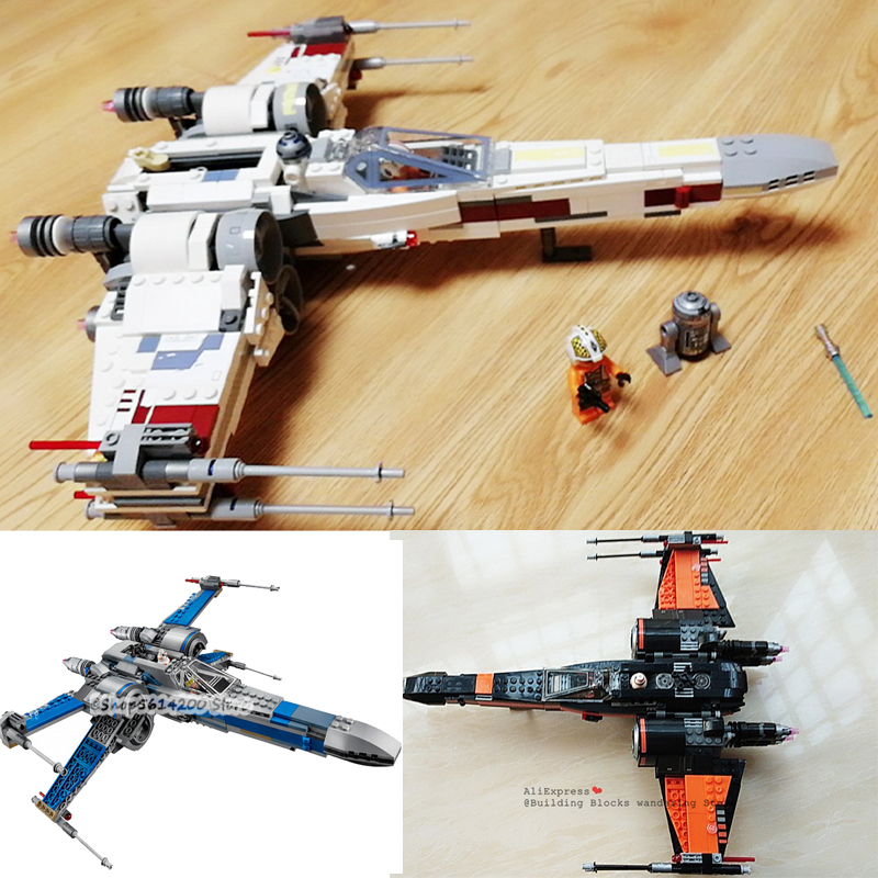 05145-05004-building-blocks-bricks-lepining-font-b-starwars-b-font-children's-toys-first-order-poe-x-wing-fighter-compatible-with-75102-05029
