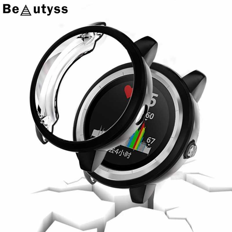 Beautyss For Garmin vivoactive 3 Ultra-thin TPU Plating Protective Case Cover Smartwatch Accessories For Garmin vivoactive