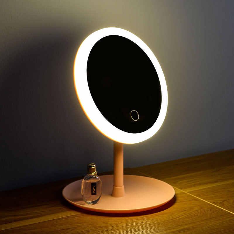 Фото Зеркало для макияжа со светодиодной подсветкой светильник с сенсорным экраном