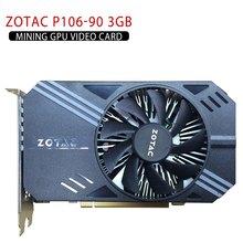 Placa de vídeo para zotac P106-90 3gb de mineração gpu placa de vídeo gtx 1060 gddr5 pci express 3.0 6 pinos pci-e pci express 2.0 x16