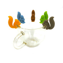 Silicone Red Lip and Tongue Wine Cup Marking Shark, Squirrel, Snail Recognizer Party Label