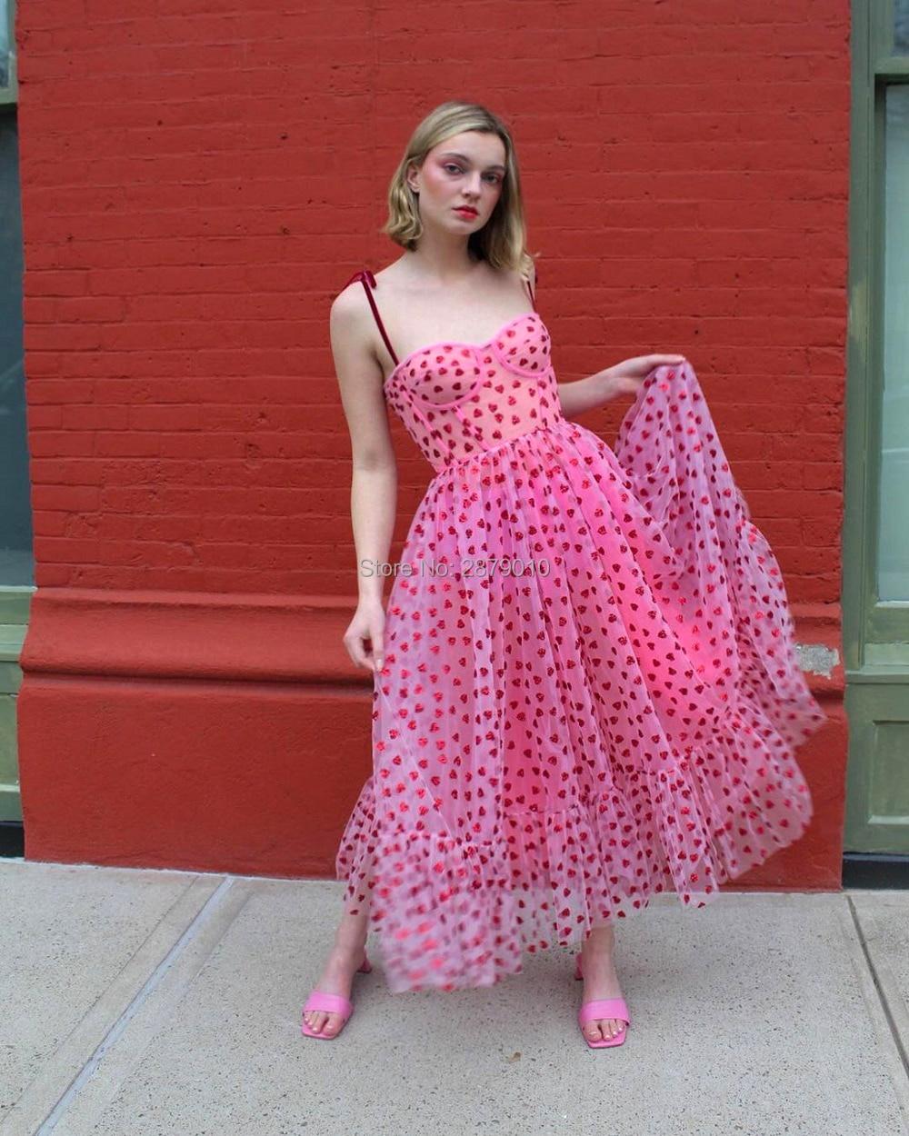 2020 клубничное платье для выпускного вечера, коктейльное платье трапециевидной формы длиной до щиколотки, котельный костюм, праздничное пла